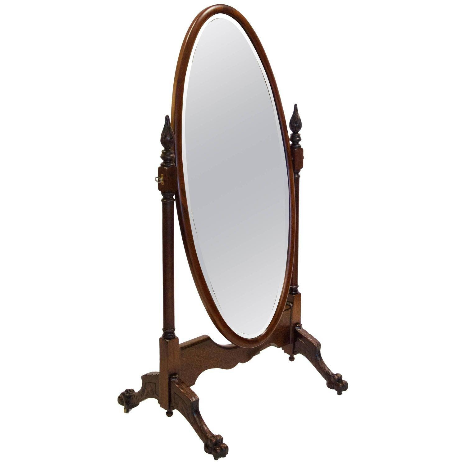 Antique & Vintage Floor Mirrors And Full-Length Mirrors For Sale with Vintage Full Length Mirrors (Image 2 of 25)