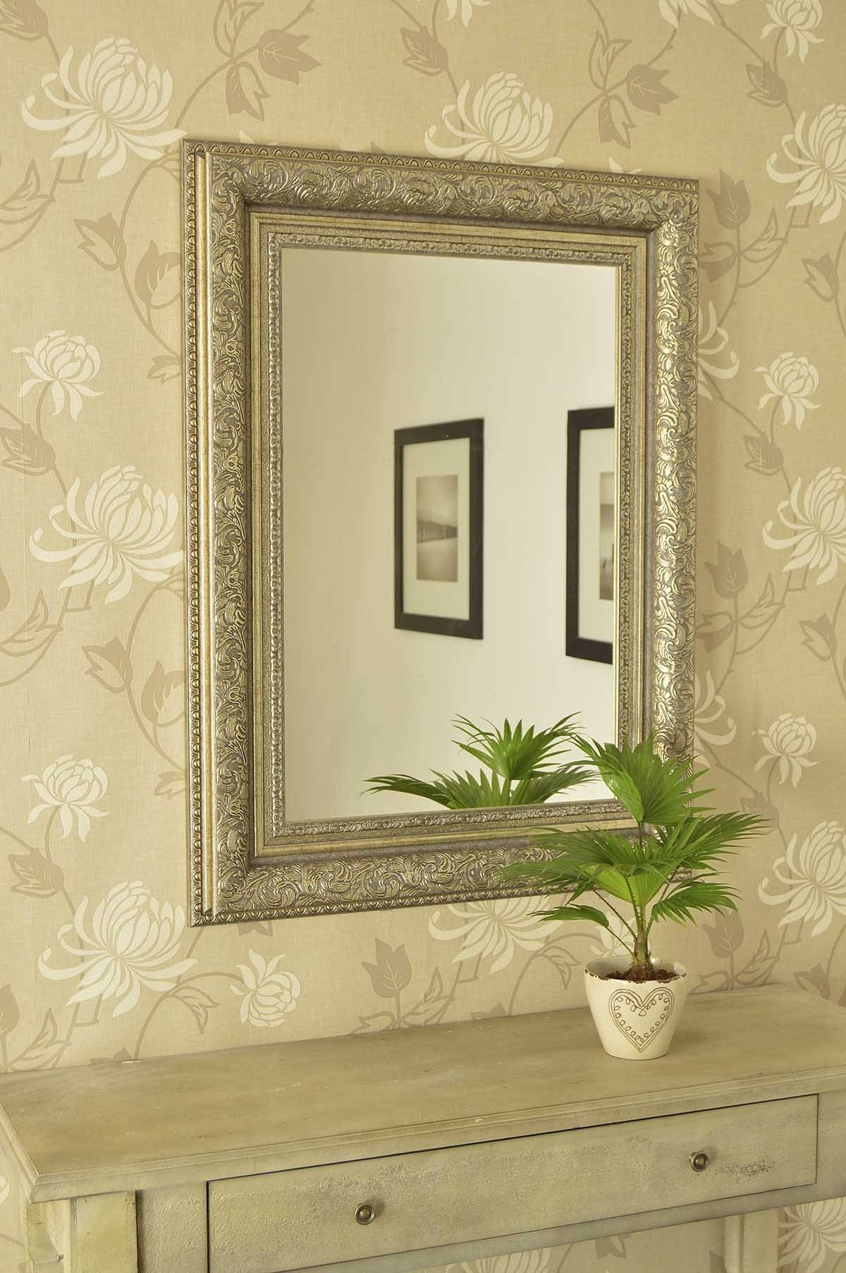 Antique Wall Mirrors Antique Wall Mirrors Large Antique Wall for Cream Ornate Mirrors (Image 1 of 25)