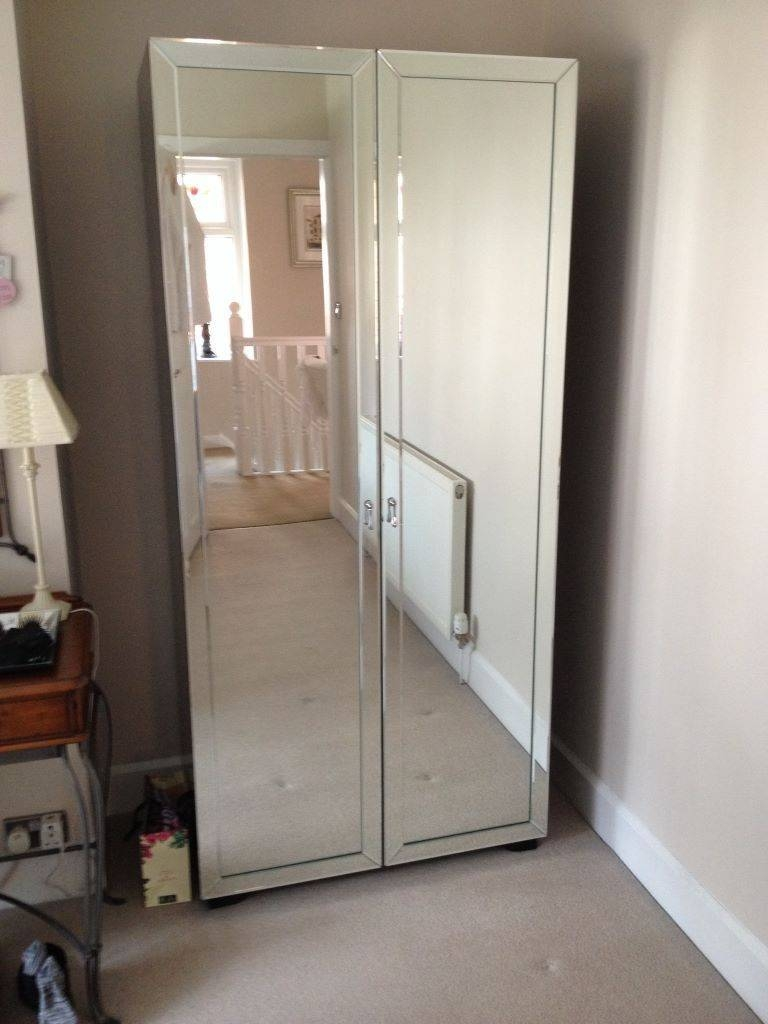 Antiqued Mirror As A Nightstand – Loudhaze Throughout Double Mirrored Wardrobes (View 3 of 15)