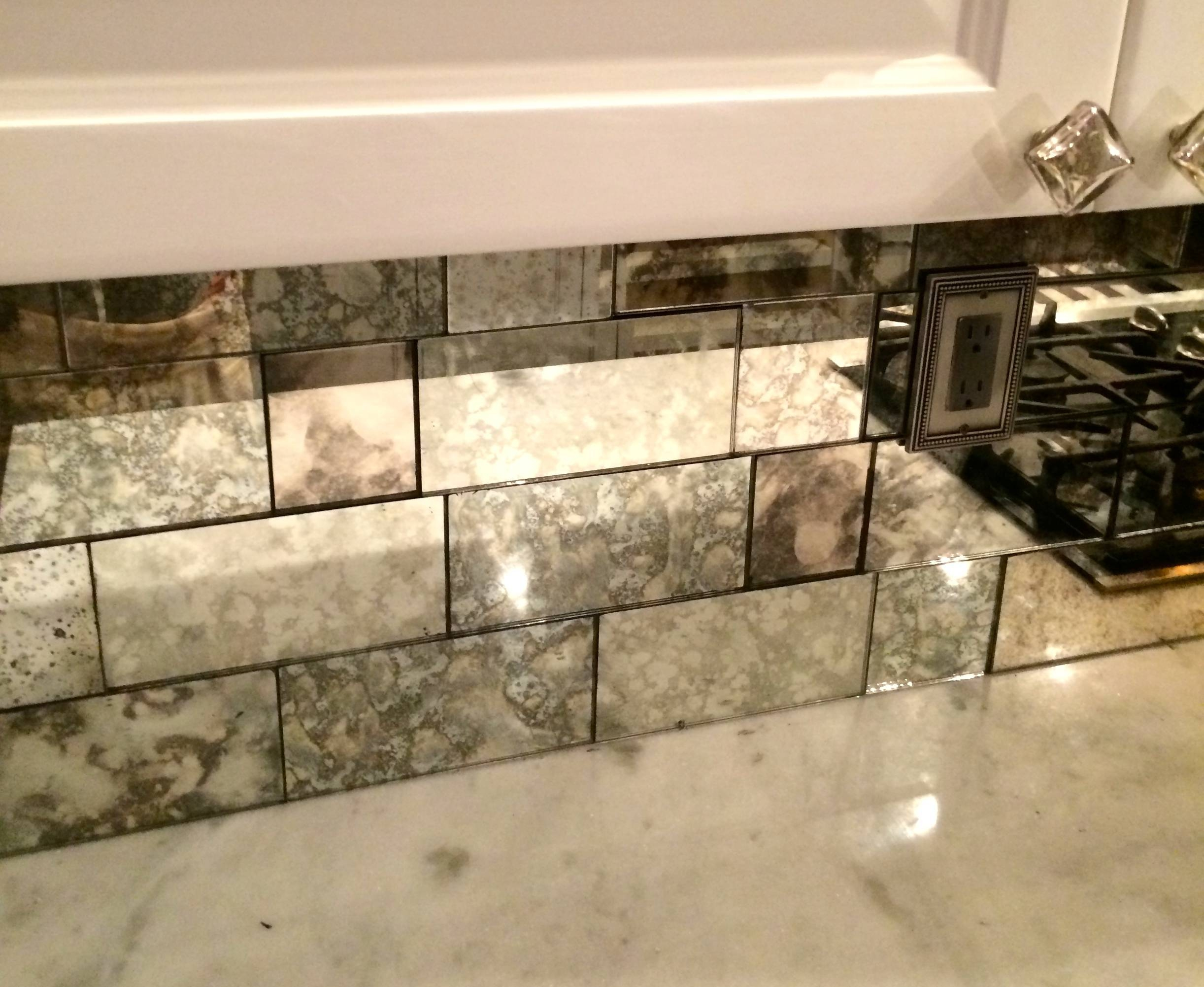 Antiqued Mirrored Subway Tiles Antique Mirrors The Glass Shoppe in Antiqued Mirrors (Image 8 of 25)