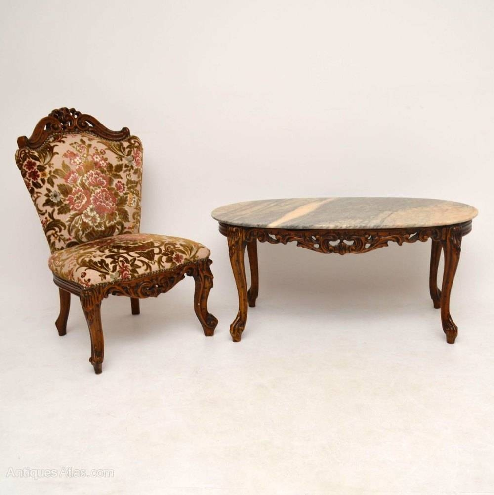 Antiques Atlas - Antique French Style Marble Top Coffee Table with regard to French Style Coffee Tables (Image 3 of 30)