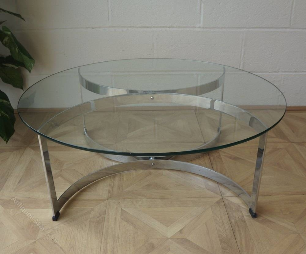 Antiques Atlas – C1971 Merrow Associates Chrome Glass Coffee Table Throughout Chrome Glass Coffee Tables (View 2 of 30)