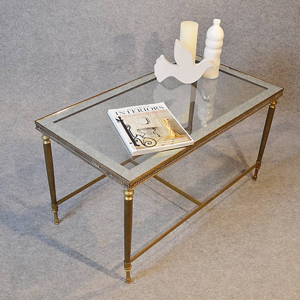 Antiques Atlas - Coffee Table Art Deco Brass Glass Top intended for Antique Brass Glass Coffee Tables (Image 7 of 37)