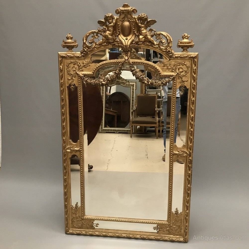 Antiques Atlas - Exquisite French Gilt Mirror With Garlands pertaining to Antique Gilt Mirrors (Image 14 of 25)