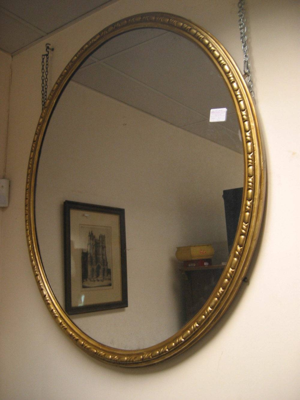 Antiques Atlas - Large Victorian Oval Mirror Reserved with Large Oval Mirrors (Image 3 of 25)