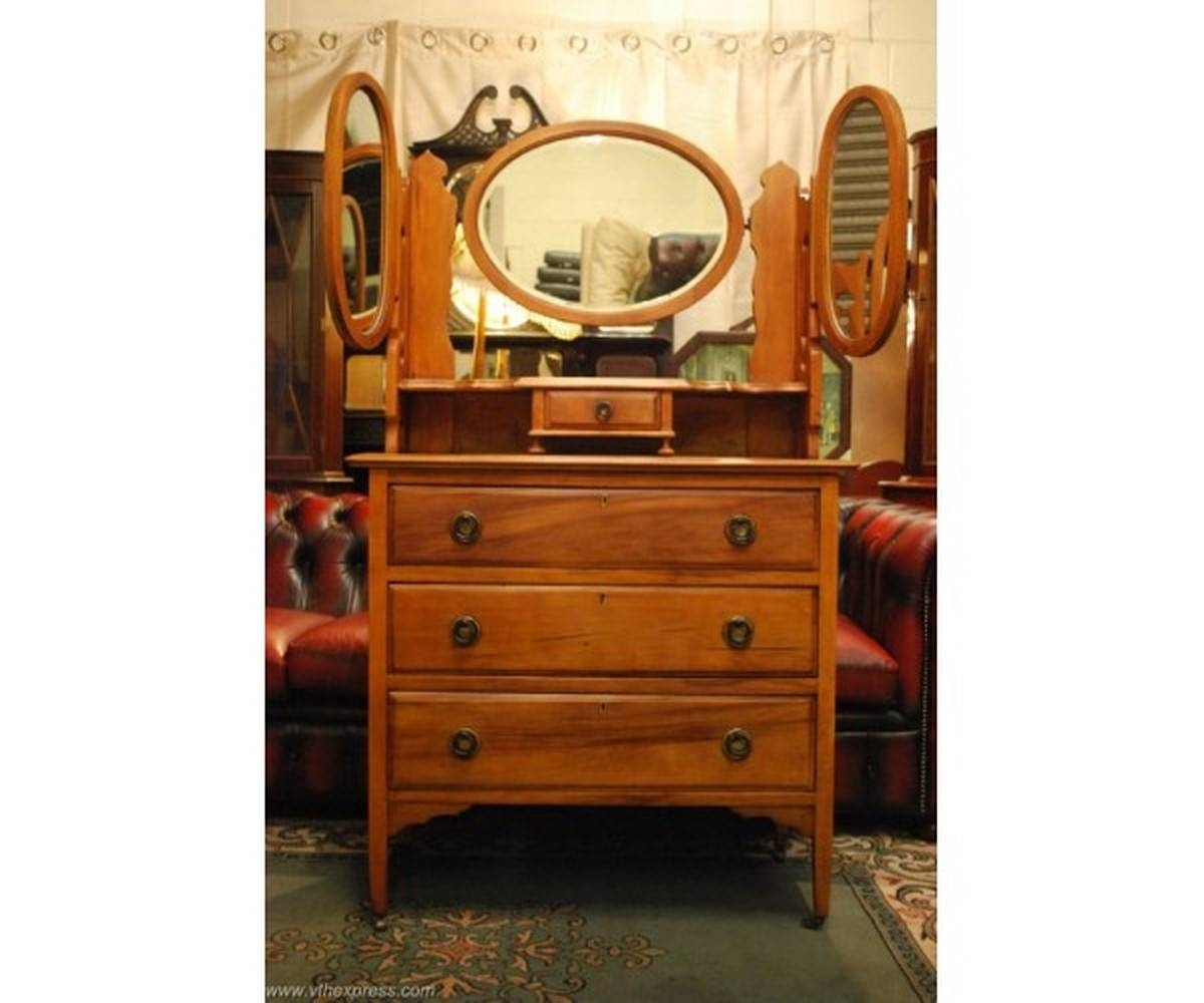 Antiques Bazaar | Dressing Tables | Beautiful Walnut Dressing inside Antique Mirrors London (Image 16 of 25)