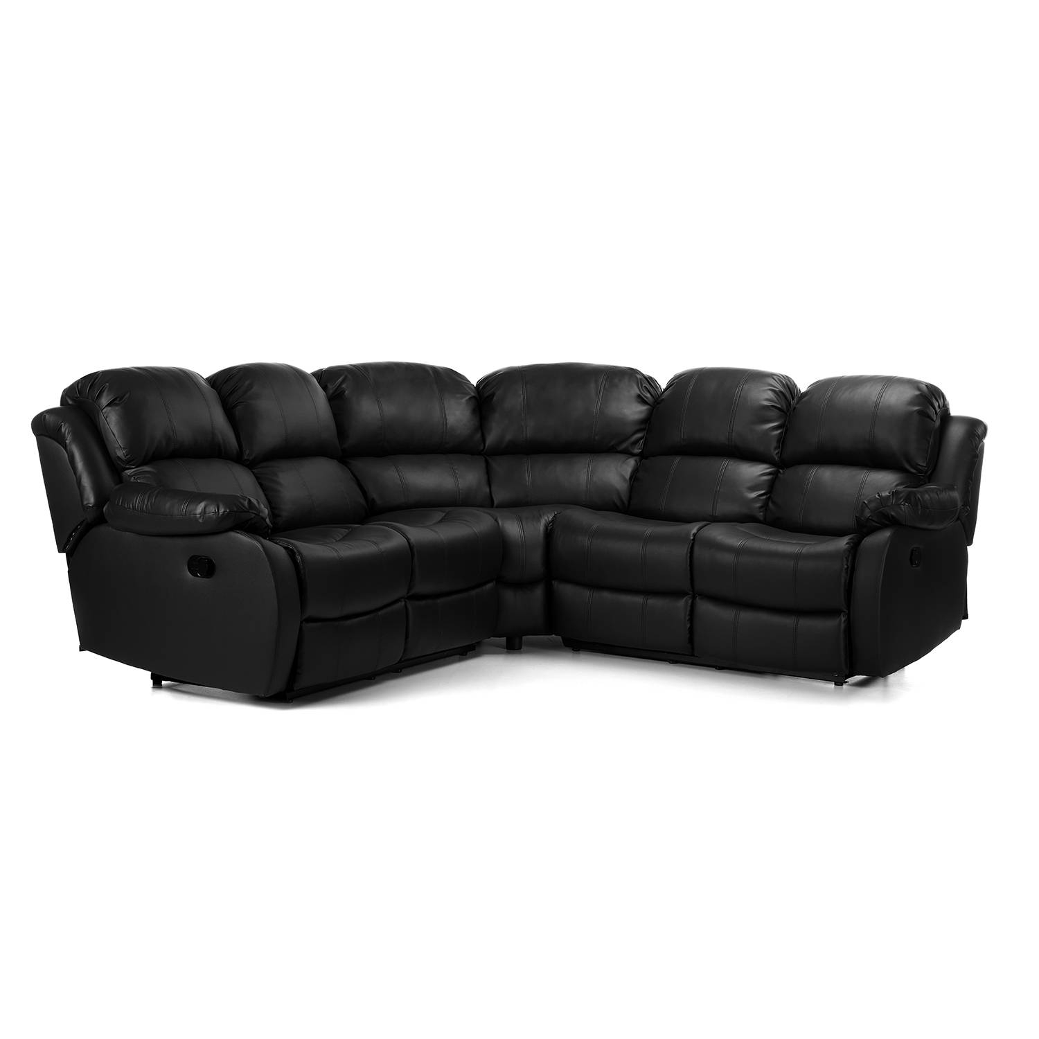Anton Reclining Leather Corner Sofa – Next Day Delivery Anton regarding Corner Sofa Leather (Image 1 of 30)
