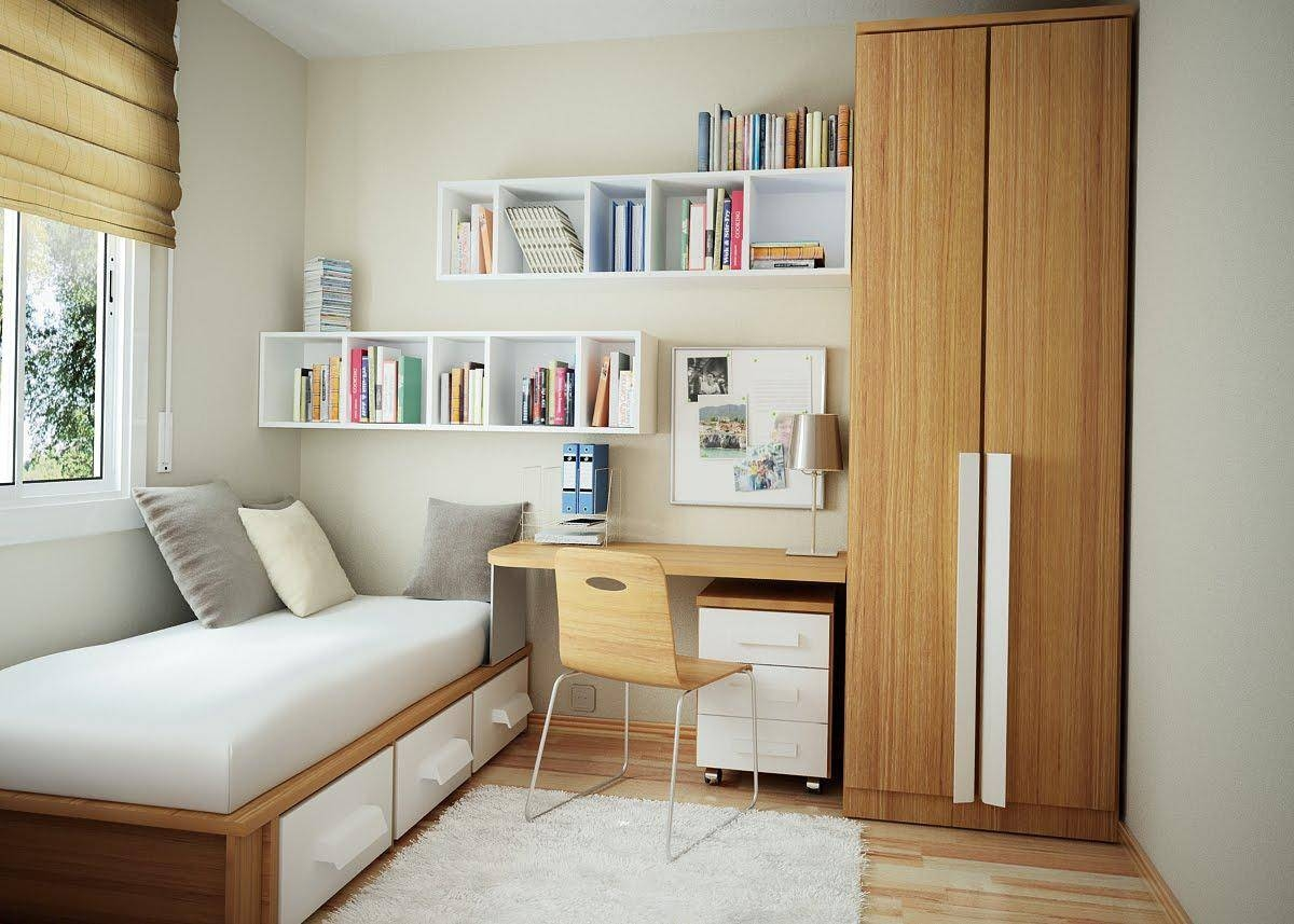 Appealing Modern Small Bedroom Decorating Ideas For College Girls in Small Single Wardrobes (Image 2 of 15)