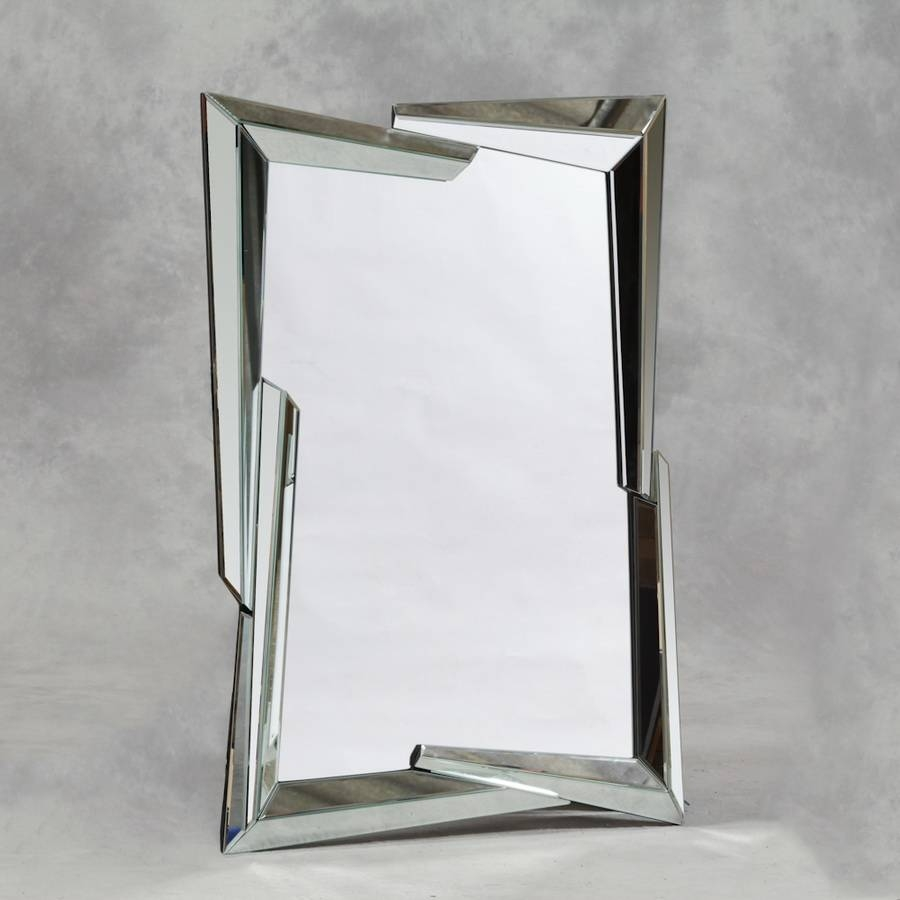 Appealing Modern Standing Mirror Design Ideas With Brown Laminated with regard to Chrome Floor Mirrors (Image 2 of 25)