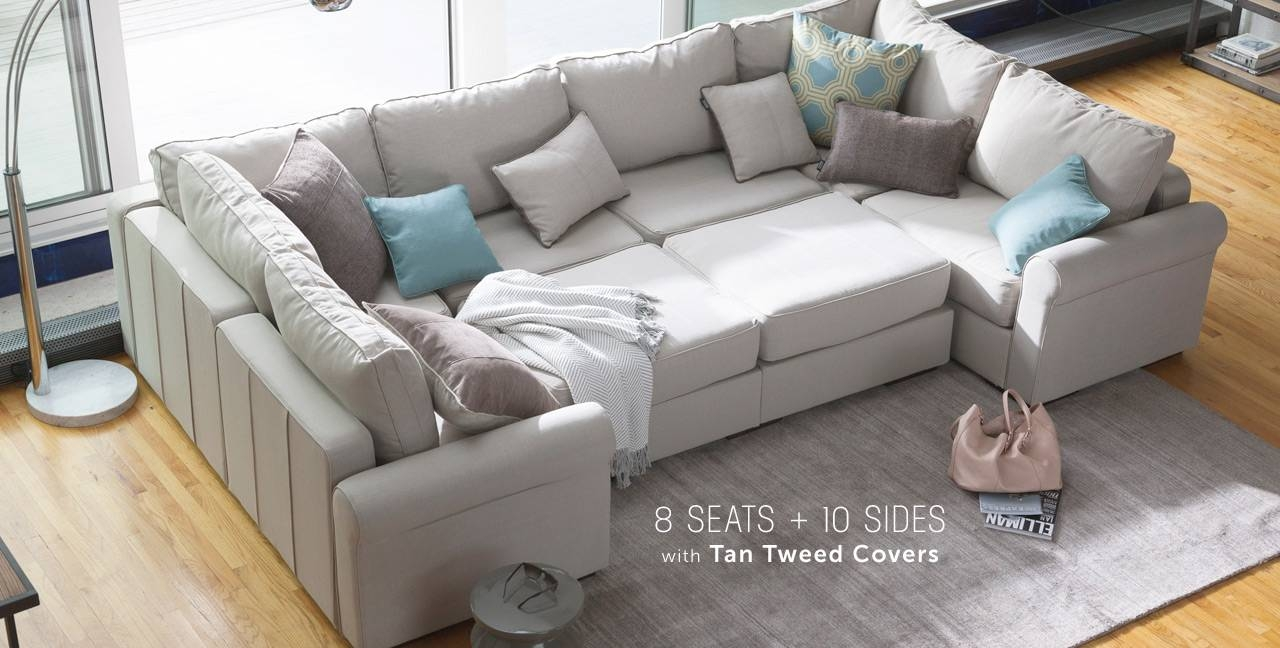 Appealing Sectional Pit Sofa 62 In Extra Wide Sectional Sofas With within Extra Wide Sectional Sofas (Image 5 of 30)