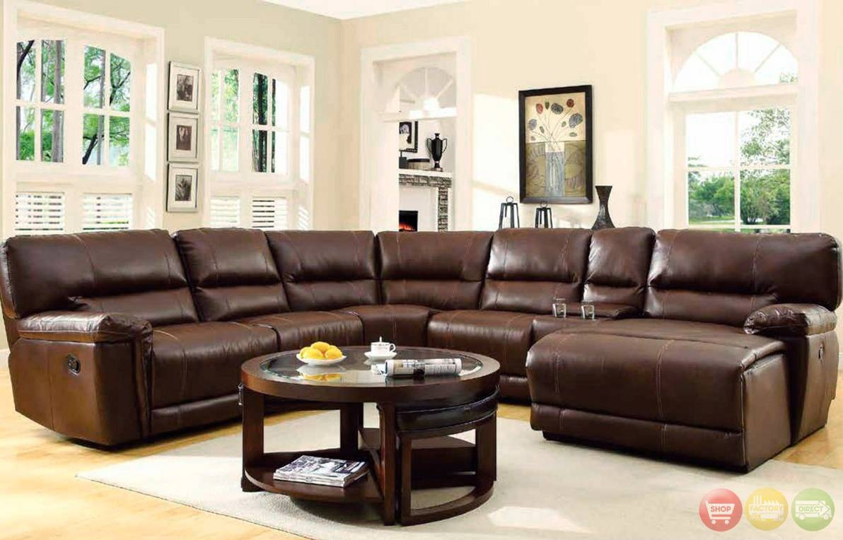 Appealing Sectional Sofa With Recliner And Chaise Lounge 84 On 6 regarding 6 Piece Leather Sectional Sofa (Image 8 of 30)
