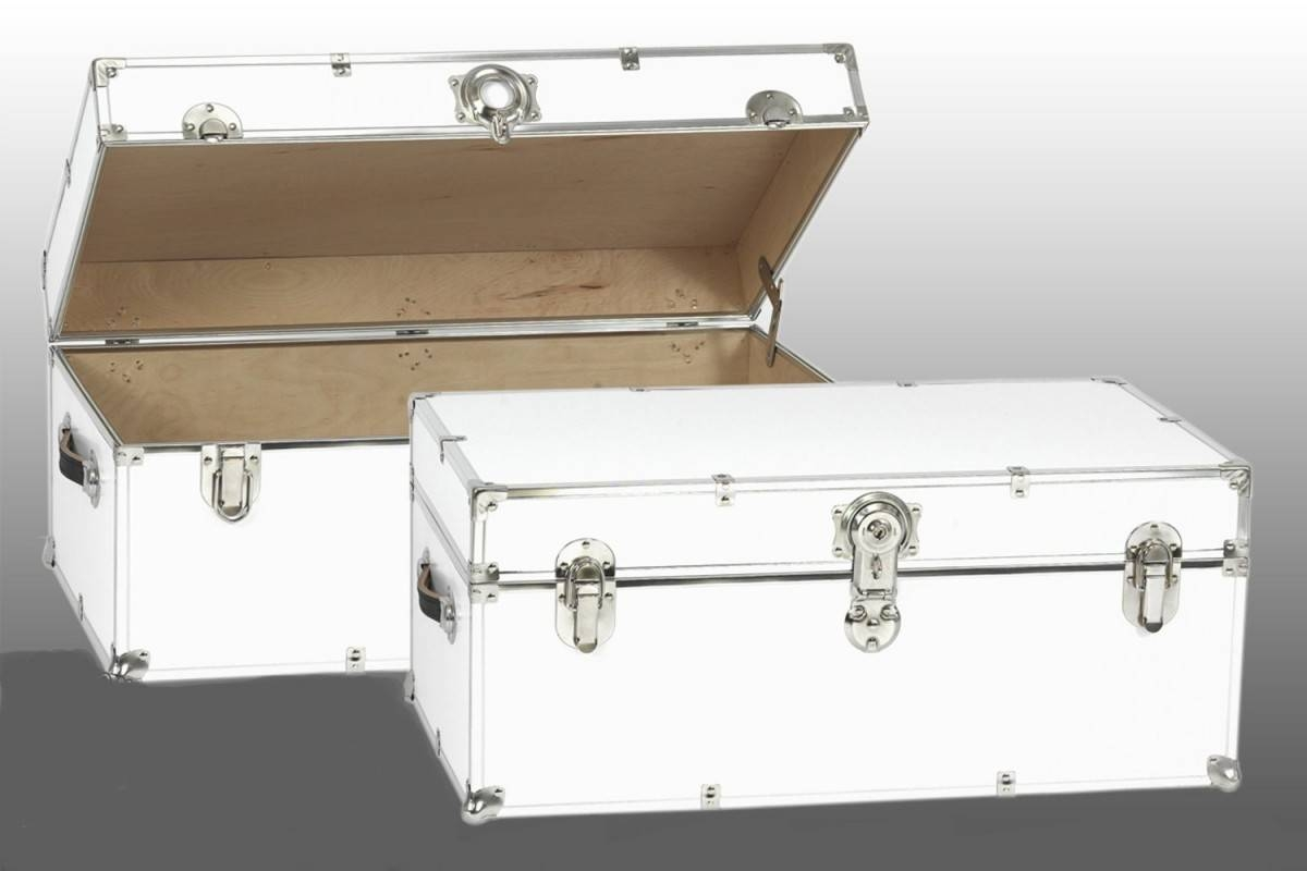 Appearance Details For Steamer Trunk Coffee Table ~ Home Decorations With Regard To Steamer Trunk Stainless Steel Coffee Tables (View 2 of 30)