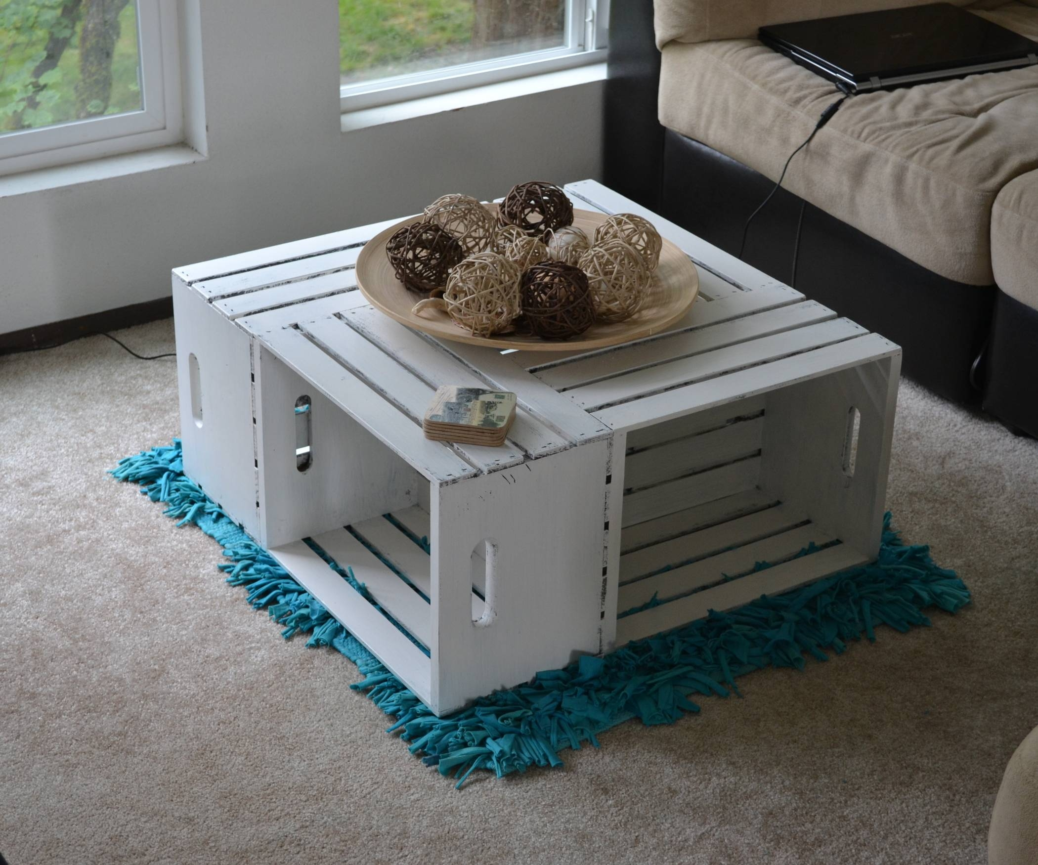 Apple Crate Coffee Table: 5 Steps (With Pictures) with Coffee Tables With Box Storage (Image 1 of 30)