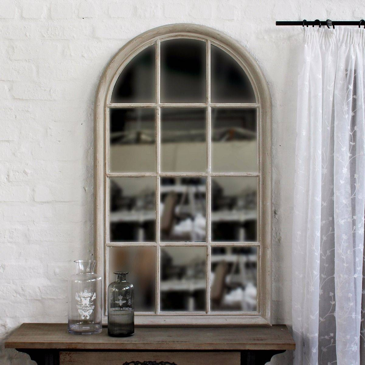 Arch Window Mirror, House Grey intended for Arched Window Mirrors (Image 2 of 25)