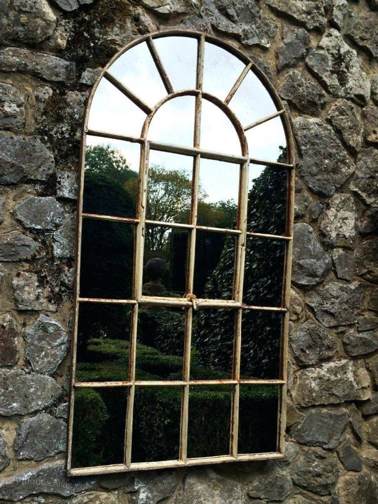 Arched Garden Window Mirror Open – Shopwiz in Garden Window Mirrors (Image 3 of 25)