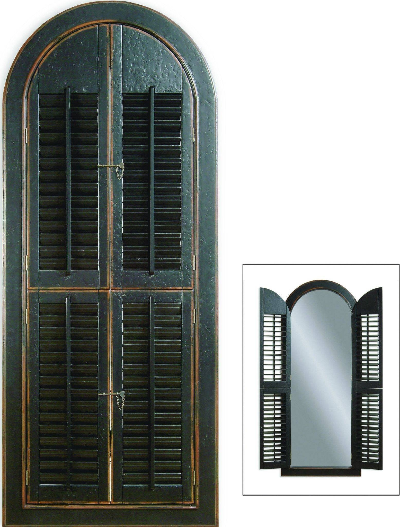 Arched Mirror With Shutters 27 Cute Interior And Cool Arched pertaining to Wall Mirrors With Shutters (Image 2 of 25)