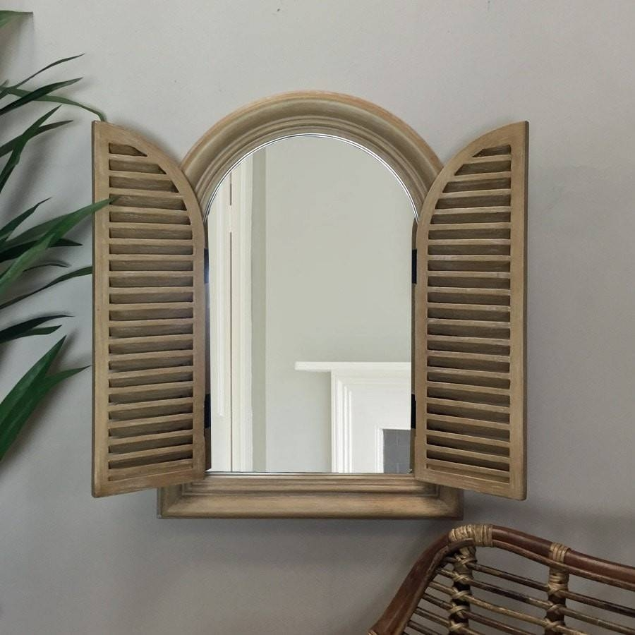Arched Mirror With Shutters – Harpsounds.co intended for Wall Mirrors With Shutters (Image 4 of 25)