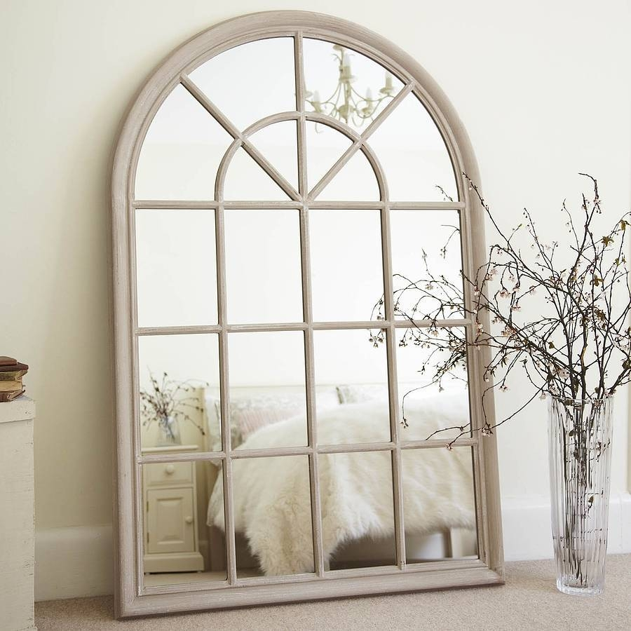 Arched Window Pane Mirror 132 Beautiful Decoration Also Distressed in White Arched Window Mirrors (Image 3 of 25)