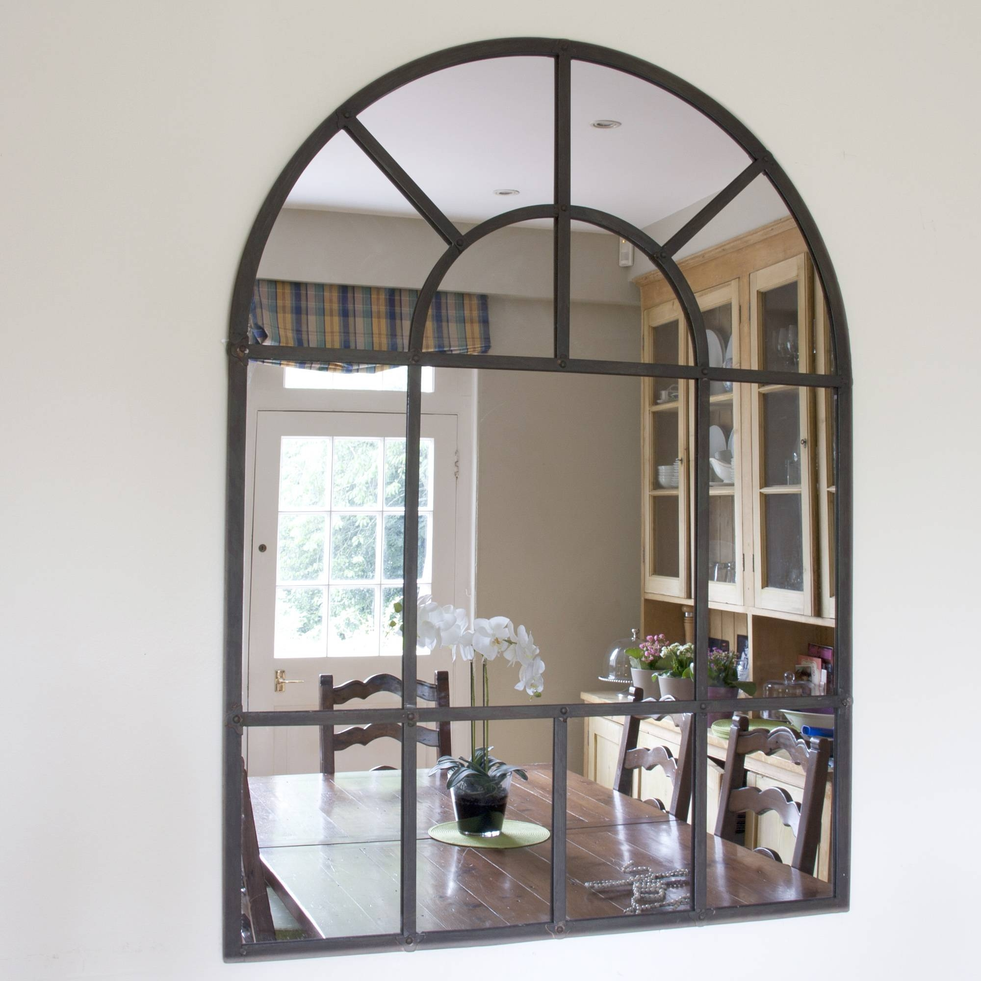 Arched Window Pane Mirror 132 Beautiful Decoration Also Distressed regarding White Arched Window Mirrors (Image 4 of 25)