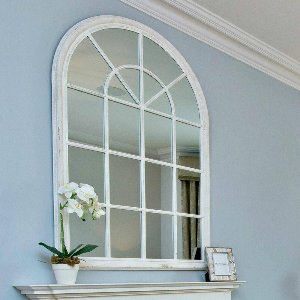 Arched Window Pane Mirror 38 Inspiring Style For White Arched with White Arched Window Mirrors (Image 8 of 25)