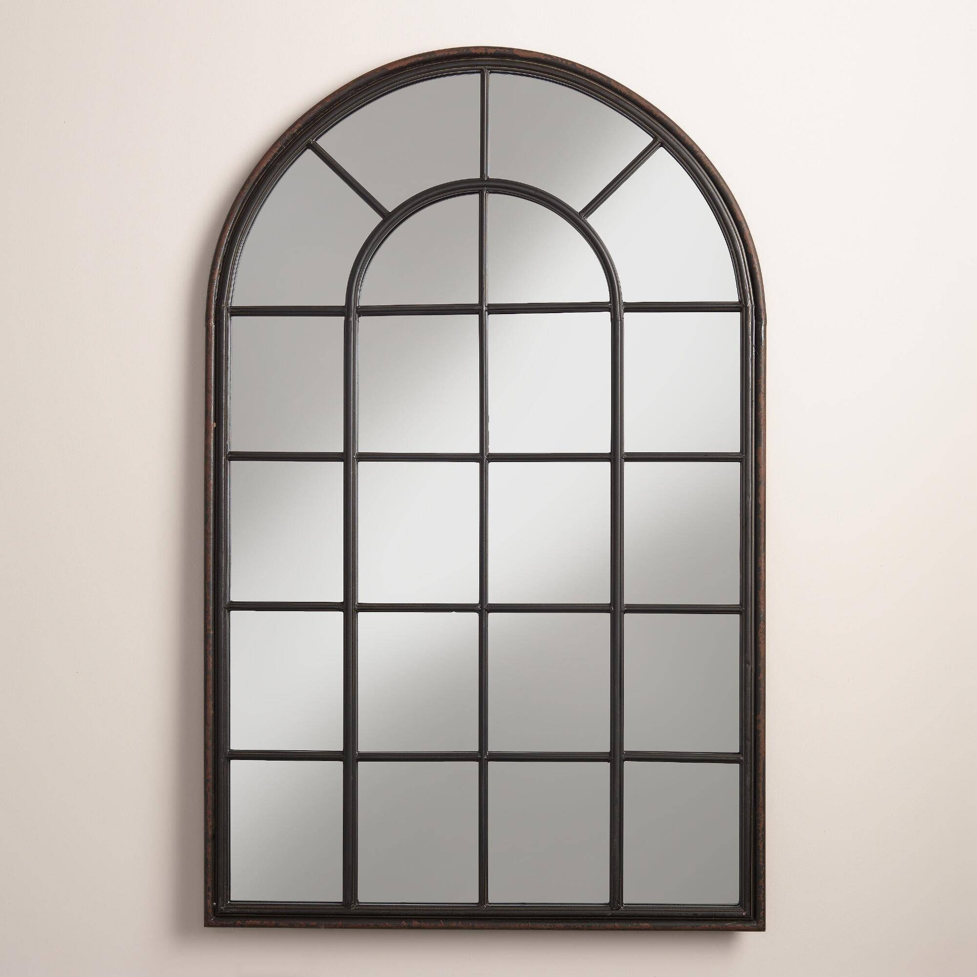 Arched Window Pane Mirror 38 Inspiring Style For White Arched with White Arched Window Mirrors (Image 7 of 25)