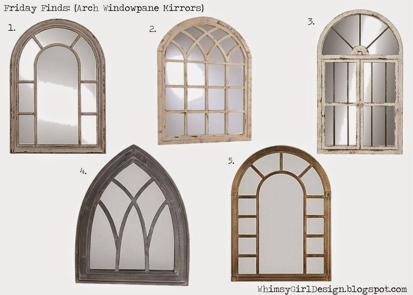 Arched Window Pane Mirror – Harpsounds.co inside White Arched Window Mirrors (Image 11 of 25)