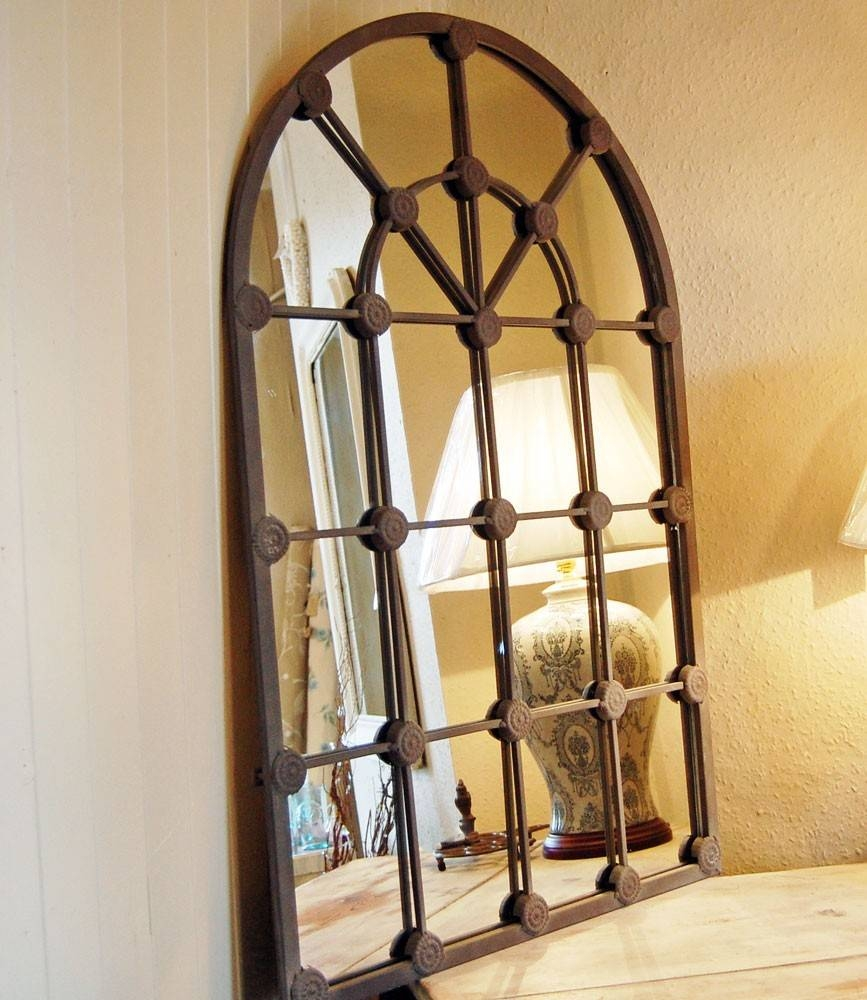 Arched Window Pane Mirror – Harpsounds.co throughout Arched Window Mirrors (Image 8 of 25)