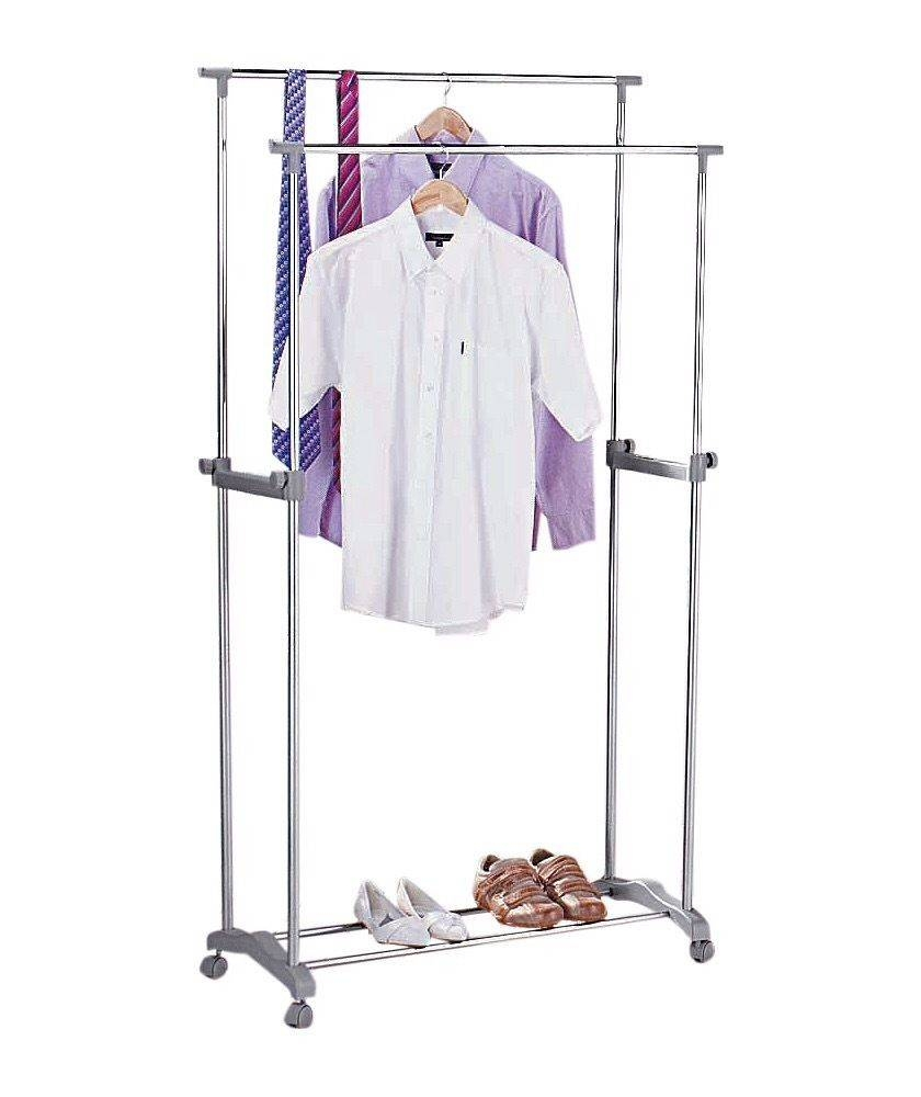 Argos Double Hanging Clothes Rail Storage Wardrobe | In Norwich for Double Rail Wardrobes Argos (Image 6 of 30)