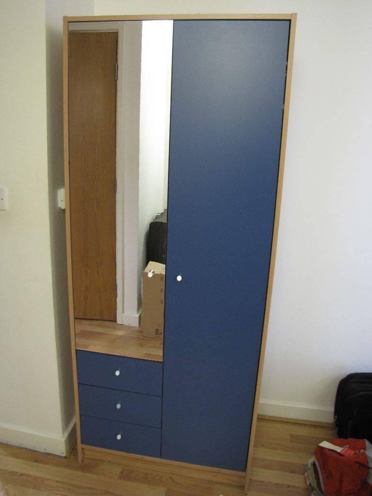 Argos Malibu 2 Door 3 Drawer Full Length Mirrored Wardrobe - As in Double Rail Wardrobes Argos (Image 8 of 30)