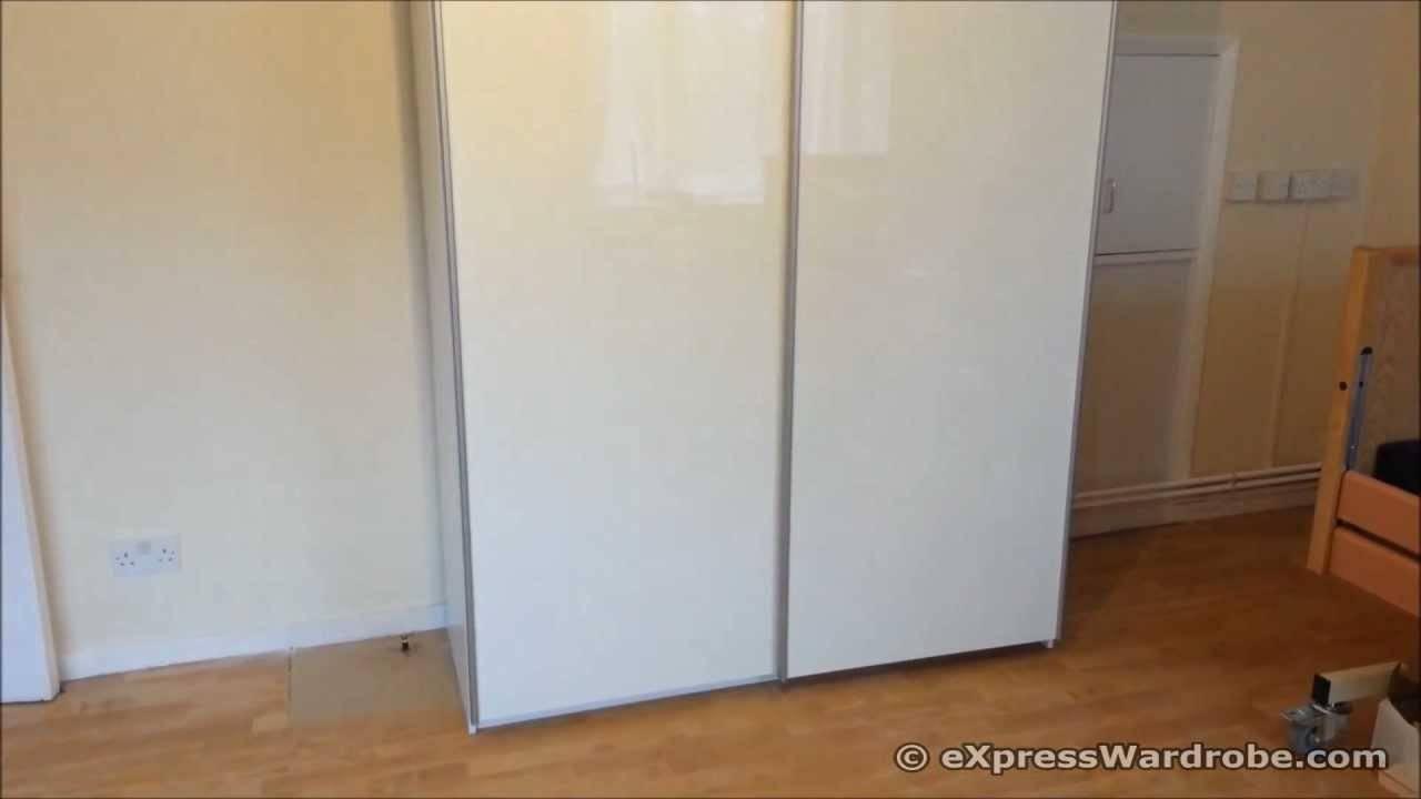Argos Pipari White Gloss Sliding Doors Wardrobe Design - Youtube in White Gloss Sliding Wardrobes (Image 1 of 15)