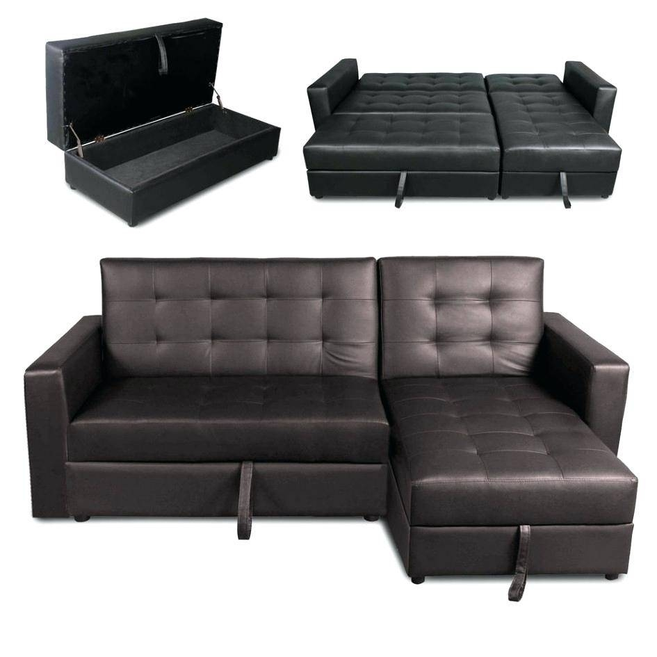 Arhaus Leather Sofa Faux Futon Bed Fold Up Couch Recliner Lounger with Leather Sofa Beds With Storage (Image 1 of 30)
