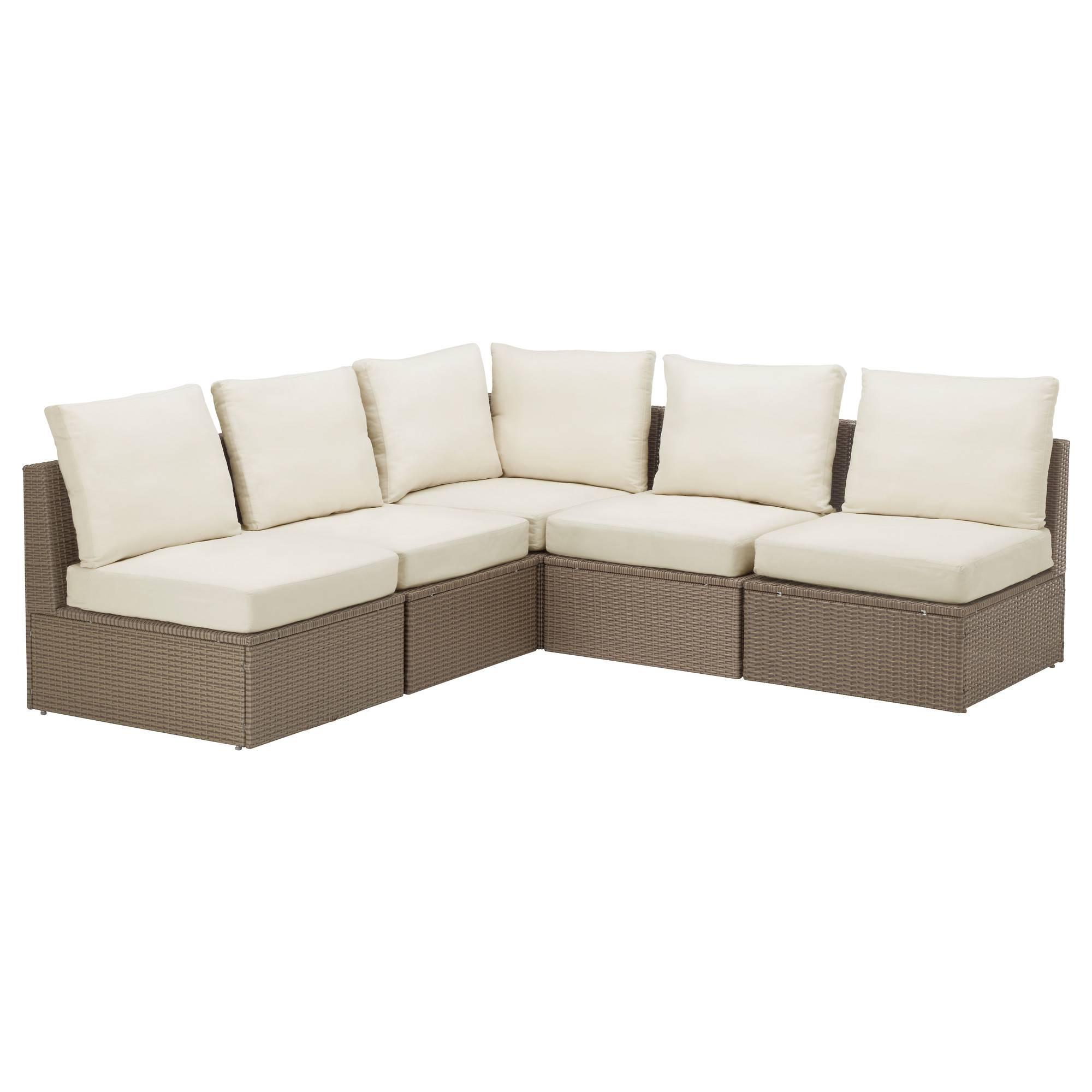 Arholma Corner Sofa 3+2, Outdoor Brown/beige 206/206X76X66 Cm – Ikea Regarding Corner Sofa Chairs (View 1 of 30)