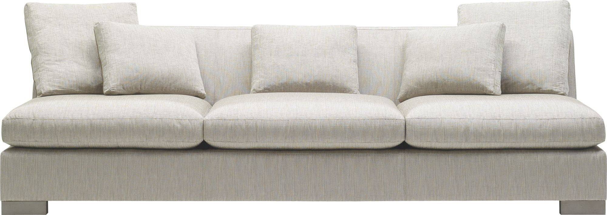 Armless Sofa Gabby Julia Armless Sofa Gray Zulu Feather Modern Room Furniture Woodbridge Home