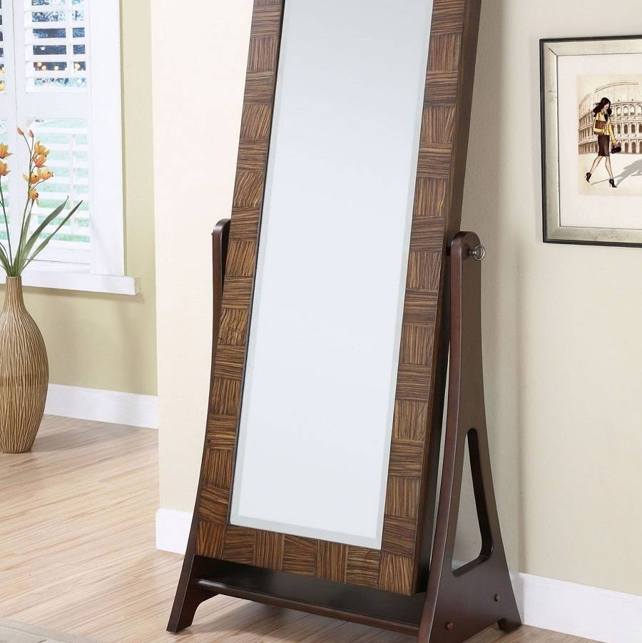Armoire: Amazing Standing Mirror Jewelry Armoire Design Jewelry pertaining to Full Length Free Standing Mirrors With Drawer (Image 1 of 25)