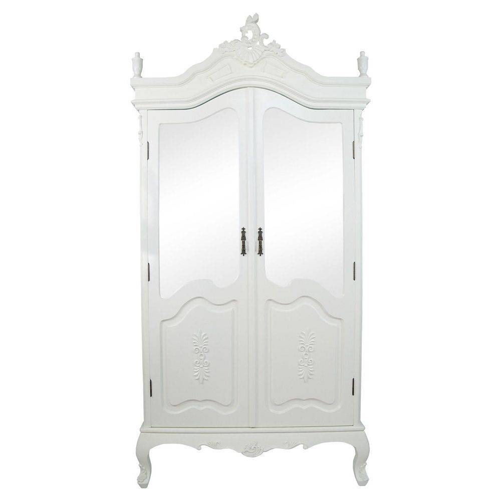 Armoire: Best Cream Armoire Wardrobe Design Cream Armoire Ebay inside French Style White Wardrobes (Image 1 of 15)