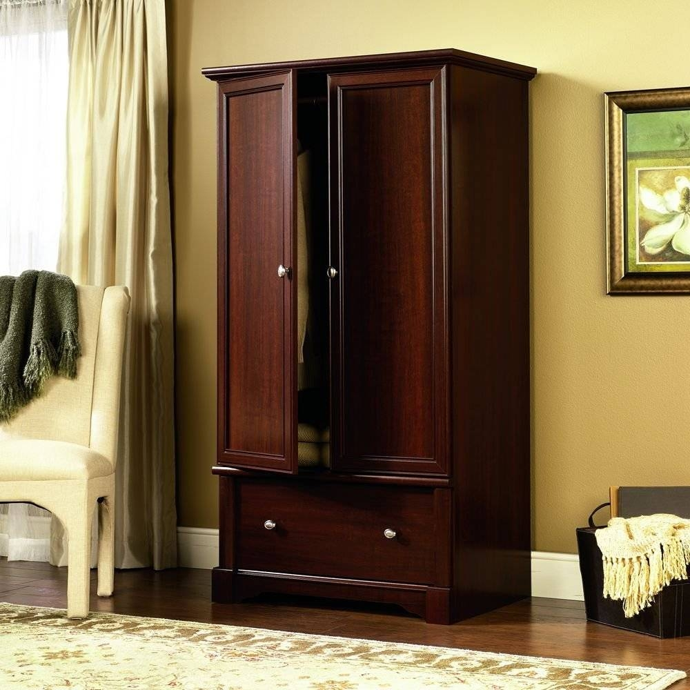 Armoire Closet Furniture, Wood Armoire Closets Wood Armoires throughout Dark Wood Wardrobes Armoires (Image 4 of 30)