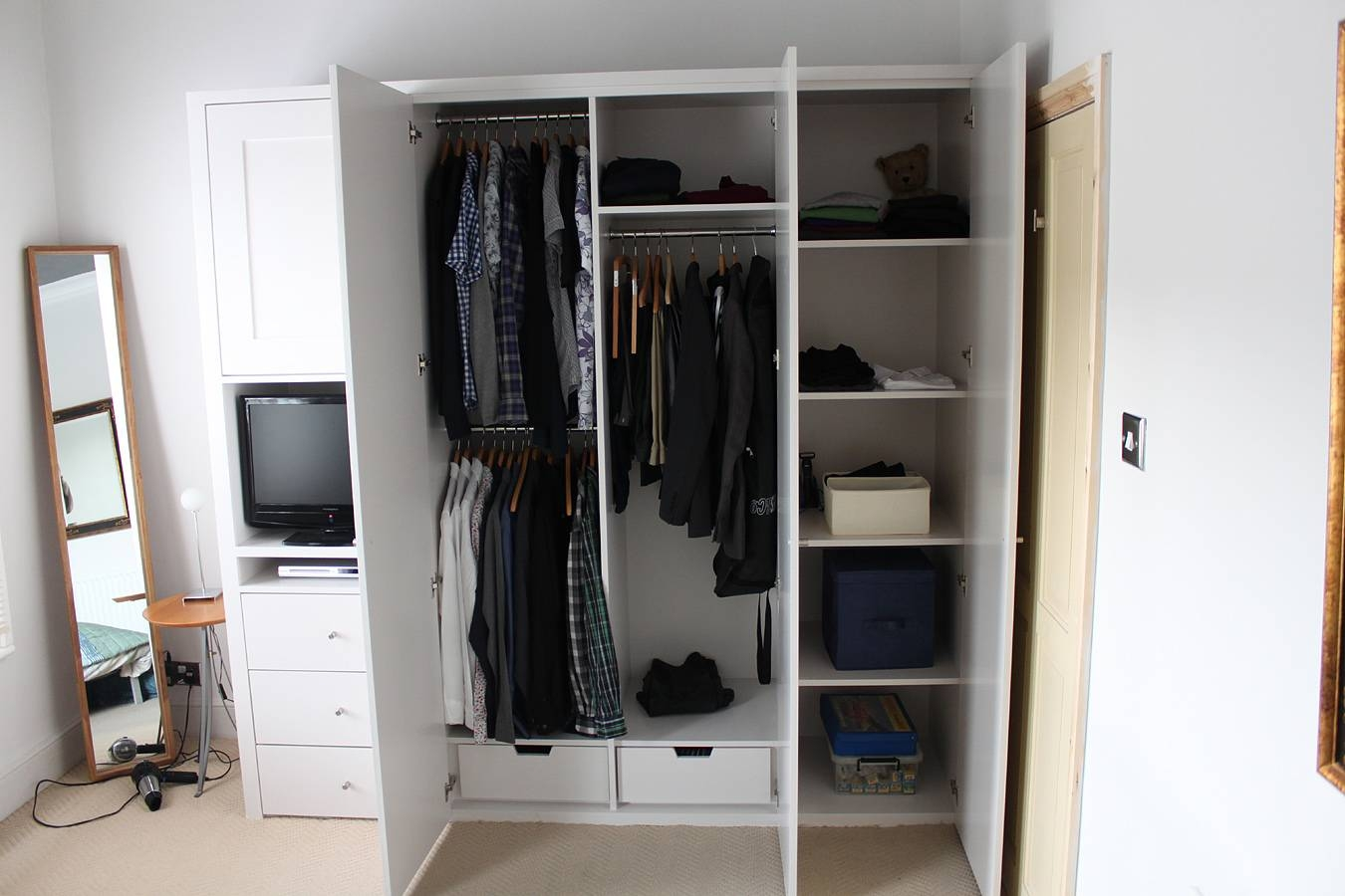 Armoire Designe » Armoire With Drawers And Shelves - Dernier inside Wardrobes With Drawers and Shelves (Image 4 of 30)