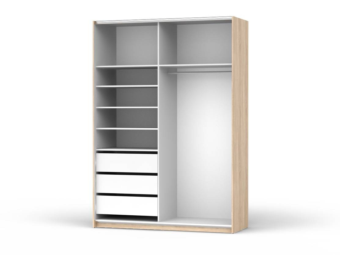 Armoire Designe » Armoire With Drawers And Shelves - Dernier with regard to Wardrobe With Shelves And Drawers (Image 4 of 30)