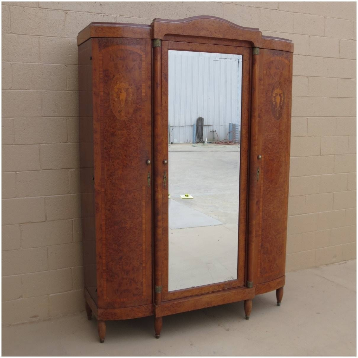 Armoire: Excellent Wardrobe Closet Armoire For Inspirations For throughout French Antique Wardrobes (Image 9 of 15)