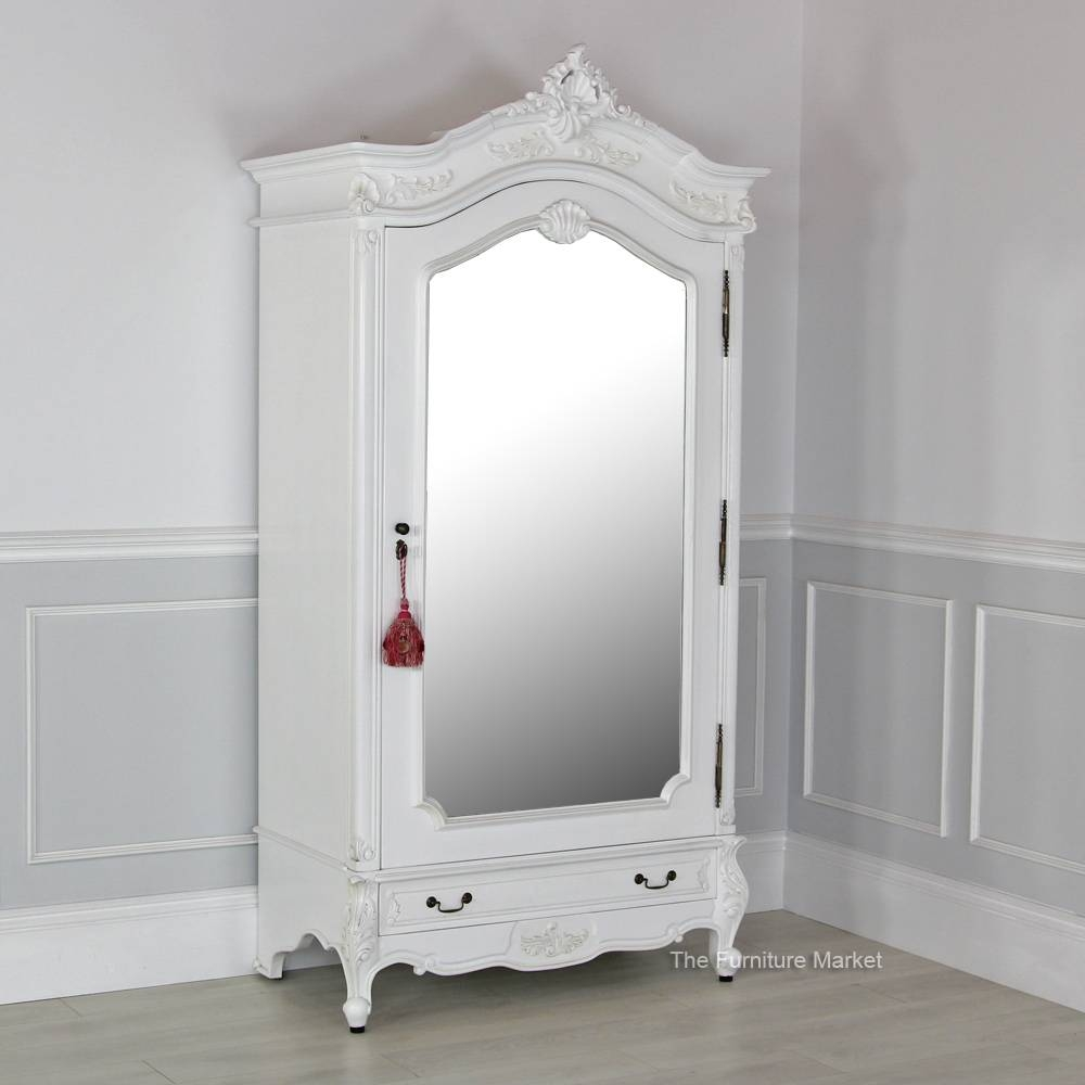 Armoire: Extraordinary Mirrored Armoire Wardrobe Design Armoire with White French Wardrobes (Image 2 of 15)