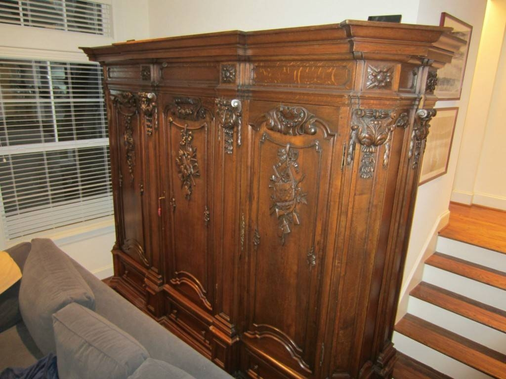 Armoire: Informing Antique Armoire For Sale Antique Chifferobe for French Wardrobes for Sale (Image 5 of 15)