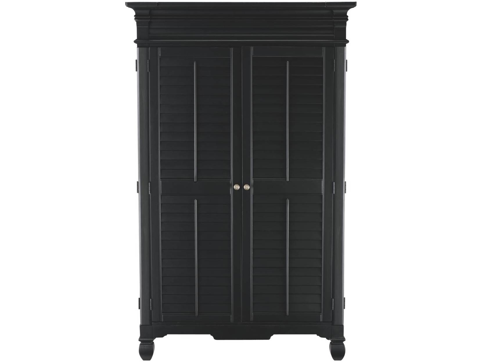 Armoire: Superb Masculine Black Armoire Design Furniture. Black regarding Black French Wardrobes (Image 4 of 15)