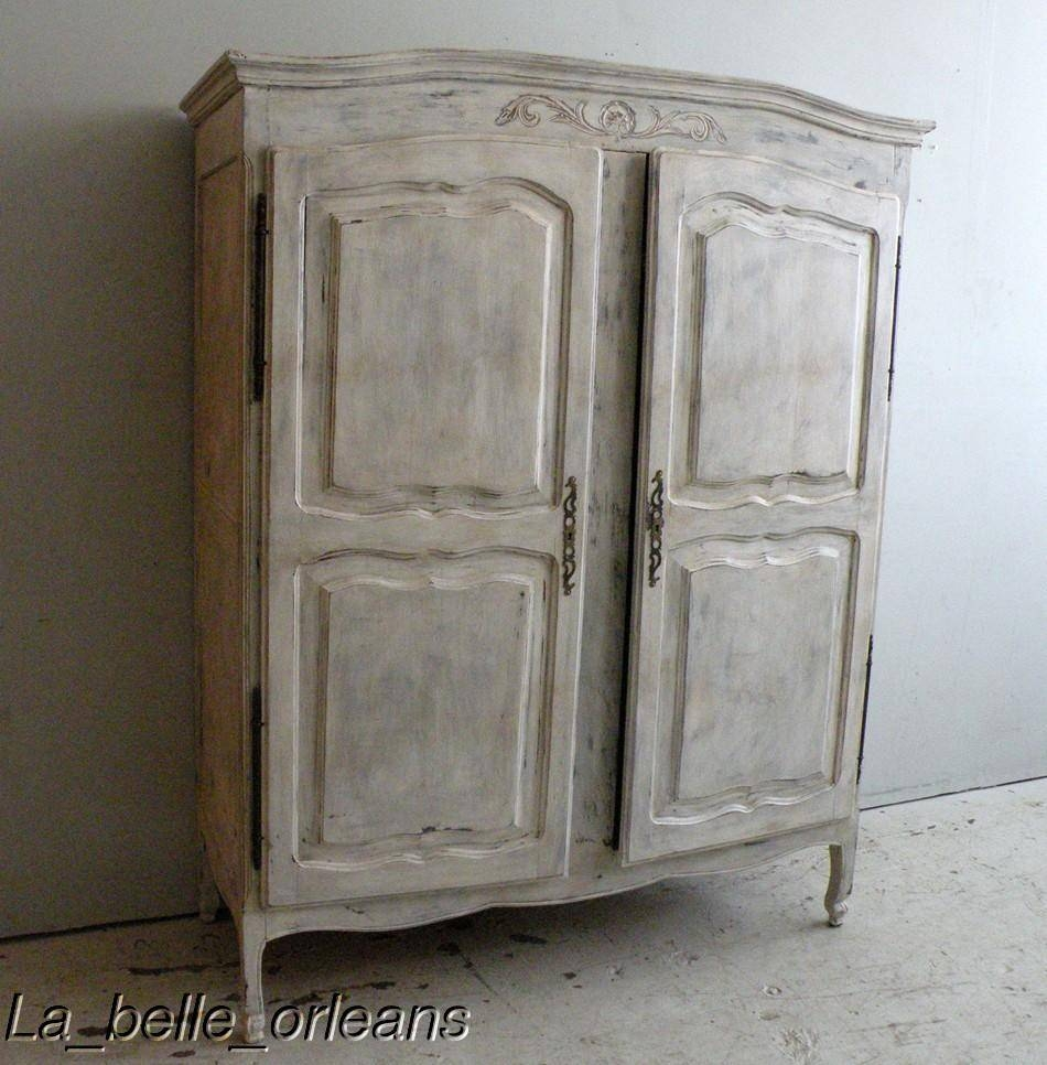 Armoire: Unique Country French Armoire Design French Armoire intended for French Armoires Wardrobes (Image 5 of 15)