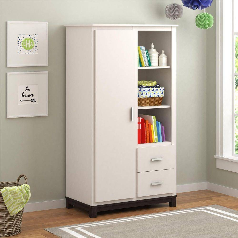 Armoires – Bedroom Furniture – The Home Depot Regarding Wardrobe With Drawers And Shelves (View 18 of 30)