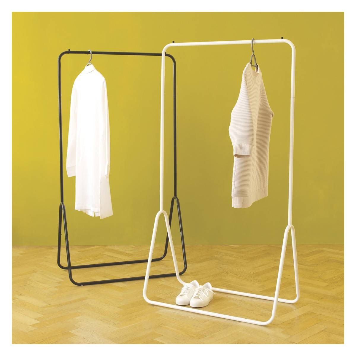 Arnie Black Metal Clothes Rail | Buy Now At Habitat Uk in Double Rail Wardrobes Argos (Image 11 of 30)