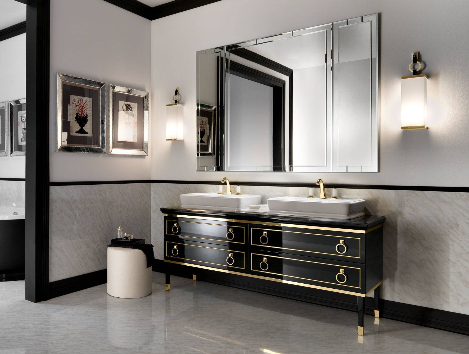 Art Deco Bathroom Mirror – Harpsounds.co with Art Deco Style Bathroom Mirrors (Image 9 of 25)