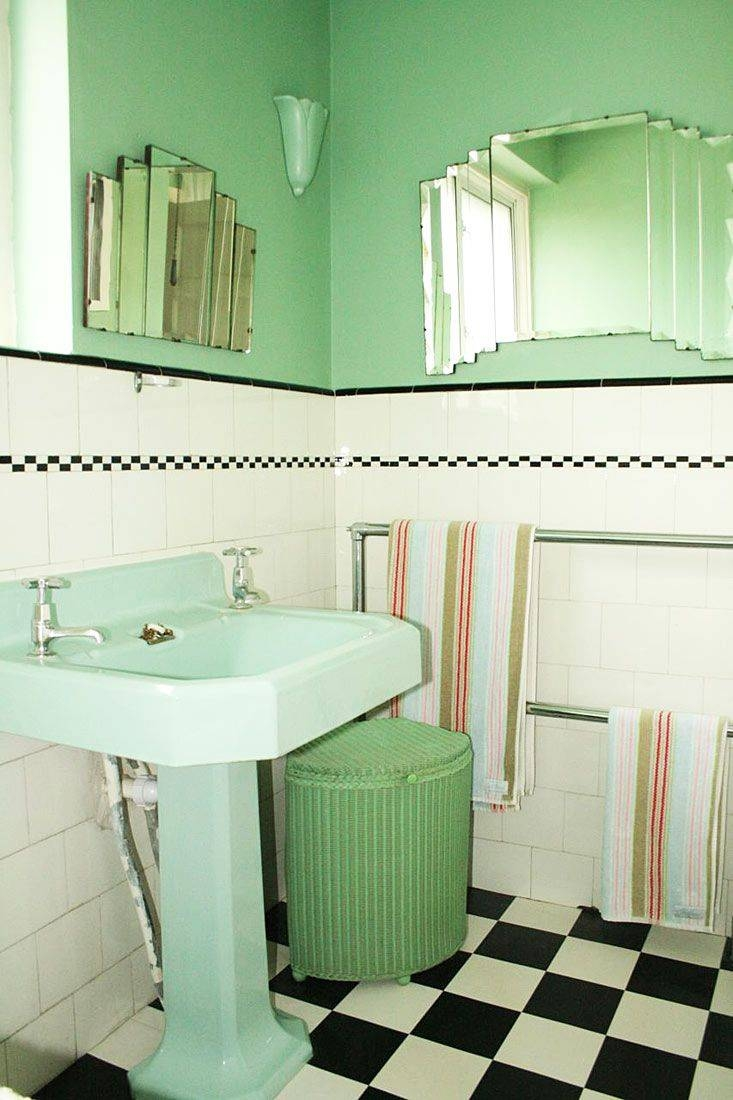 Art Deco Bathroom Tile Patterns Tags : Art Deco Bathroom Small inside Art Deco Style Bathroom Mirrors (Image 12 of 25)