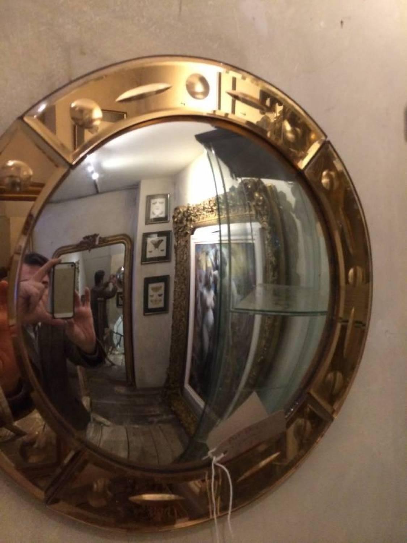 Art Deco Convex Mirror In Decorative pertaining to Decorative Convex Mirrors (Image 3 of 25)