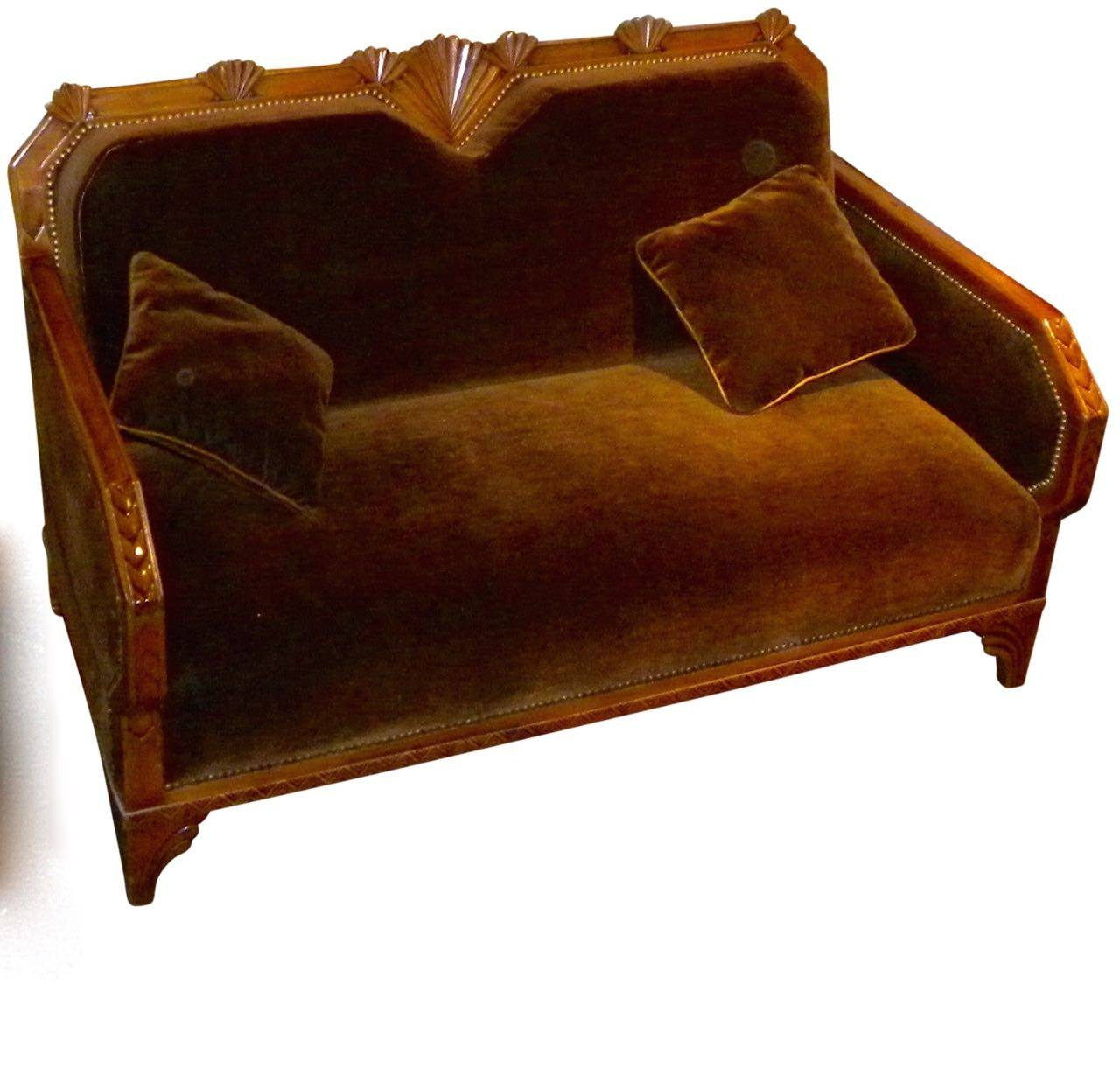 Art Deco Furniture For Sale | Seating Items | Art Deco Collection with regard to Art Deco Sofa and Chairs (Image 3 of 15)