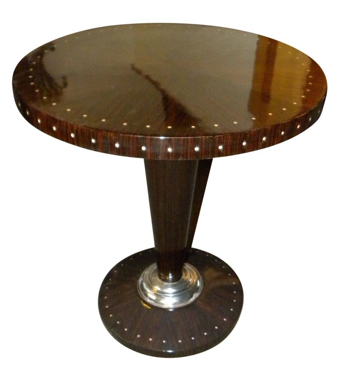 Art Deco Furniture For Sale | Small Tables | Side Tables in Clock Coffee Tables Round Shaped (Image 1 of 30)